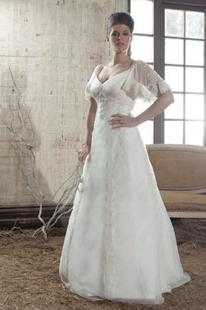 plus size wedding dress with sleeves. Plus Size Wedding Dresses
