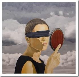 cega ao espelho