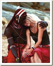 masai e mulher ocidental