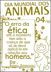 cartaz direitos dos animais erro ético