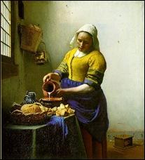 Vermeer a laiteira milkmaid