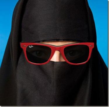 burka ray ban retro