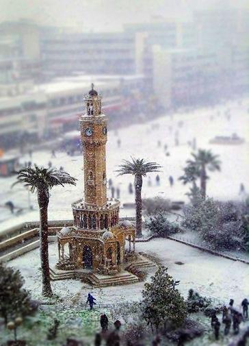 Izmir in Snow