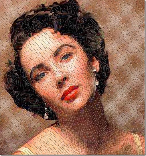 Elizabeth  Taylor Mosaic