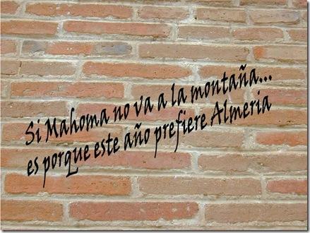 Si mahoma no va a la montaña... es porque este año prefiere almeria