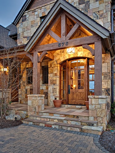 Designing Your Dream Home Mountain Homes Front Entry
