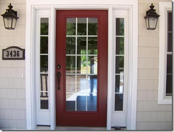 Painted front door with sidelights images galleries with a bite - Paint for doors exterior pict ...