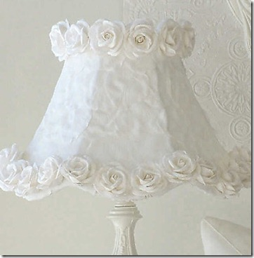 Roses and petals lampshade
