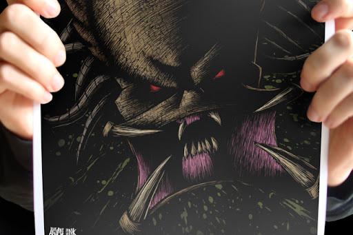 alien print, predator print, horror print, monster print, monster poster