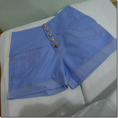 high waist denim short pants