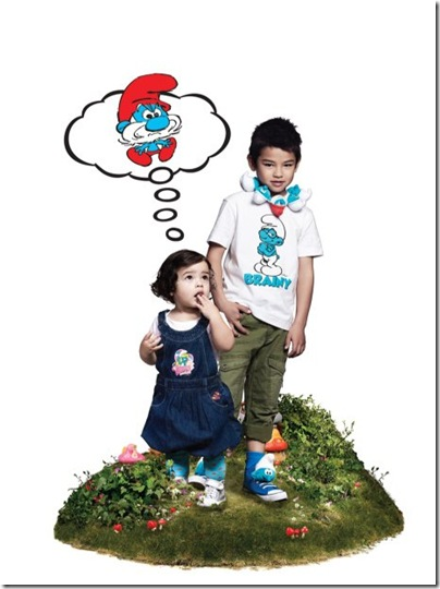 Boy Smurf Print Tee - HKD 89-99 & Baby Girl Print Dress - HKD 259