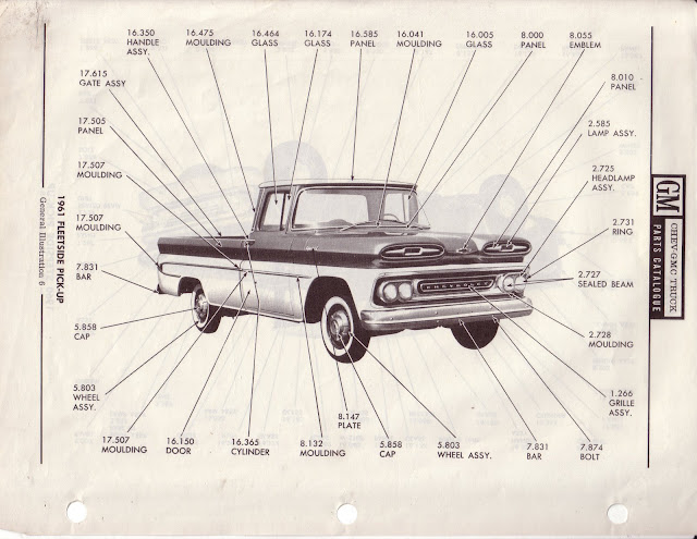Description et spécifications Chevrolet GMC 1960-1966 Image0-3