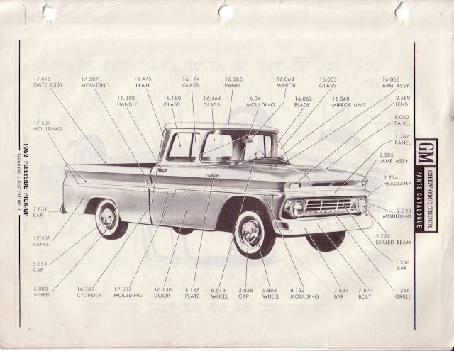 Description et spécifications Chevrolet GMC 1960-1966 Image0-4