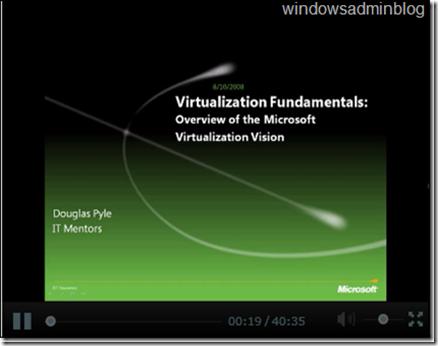 Virtualization Video Tutorials