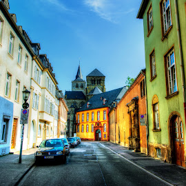 Side street by Piotr Owczarzak - City,  Street & Park  Street Scenes ( hdr, old town, germany, city, street photography )