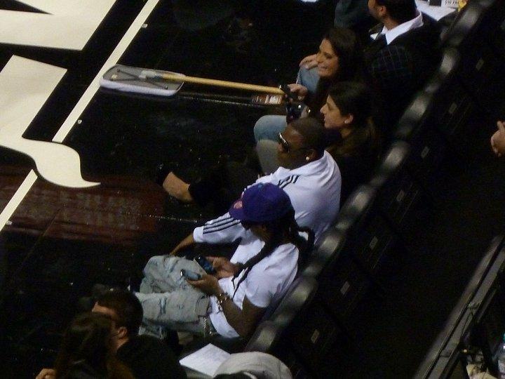 Fotos: Lil Wayne aparece no jogo do Heats vs. Hornets