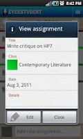 Screenshot of Everstudent Student Planner