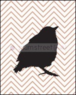 W_silhouette_Bird4_8x10_chevpeach_th