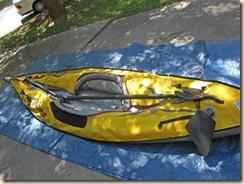 Backbone Sections on Kayak