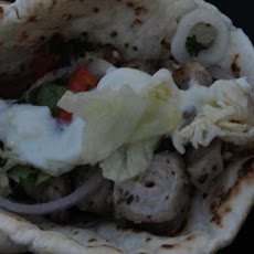Akrotiri: Cypriot Pork Souvlaki With Tzatziki