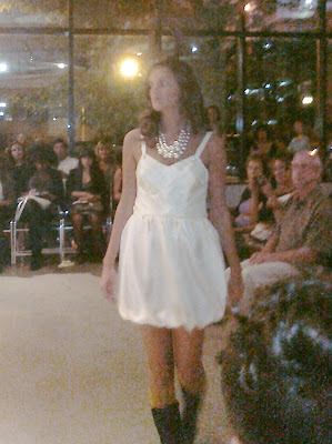 Cream Bubble-Skirted Dress