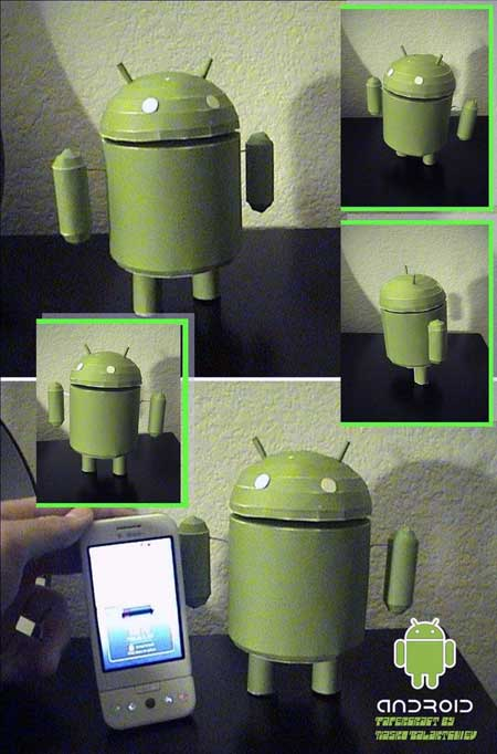 This Google Android Mascot Papercraft is Much Better