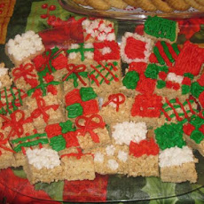Holiday Presents Rice Crispy Treats