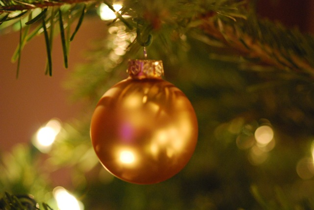 Christmas gold bauble