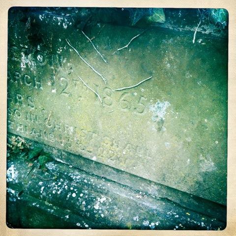 January - tombstone