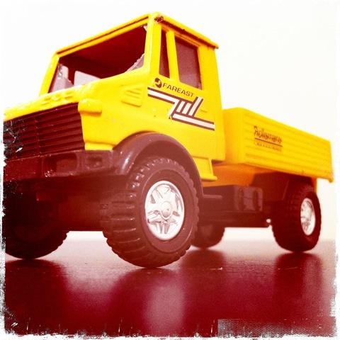 February - a big truck