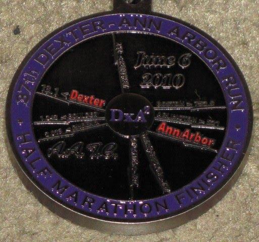 2010 Dexter - Ann Arbor Finishers Medal