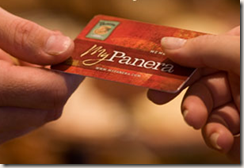 panera bread card