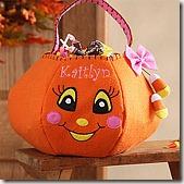 pumpkin personalized basket