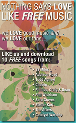 Family Christian Stores Free songs on FB Fan Page