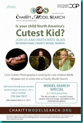Chris Golden Photography -cutest kid contest flyer