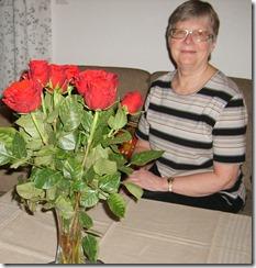 Bjørg med roser