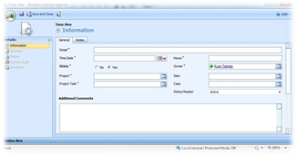 Dynamics CRM data entry