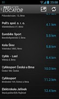 Screenshot of Bike Shops Locator