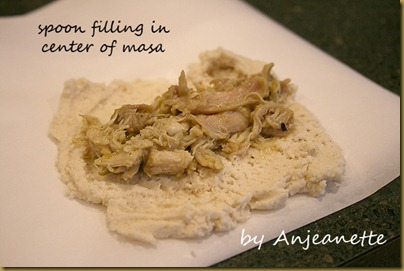 spoon filling in center of masa