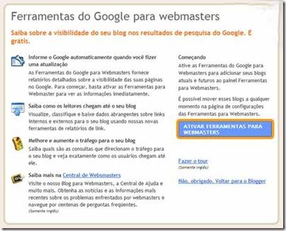 ferramentas do webmaster tools