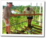 Tom and Mark on our 'verandah'