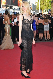 64th cannes film festival claudia schiffer chanel