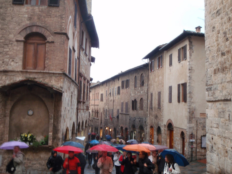 San Gimignano in the rain