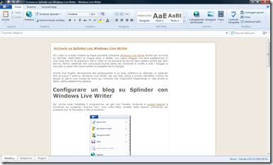 Splinder con Windows Live Writer