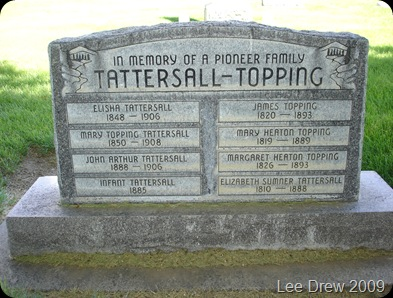 Tattersall Topping family memorial