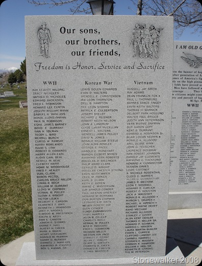 AF Cemetery War Veterans Memorial
