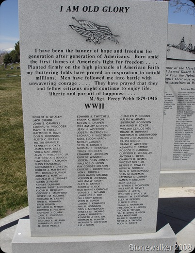 AF Cemetery WWII Veterans Memorial 3