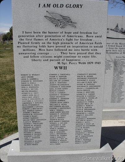 AF Cemetery WWII Veterans Memorial 3
