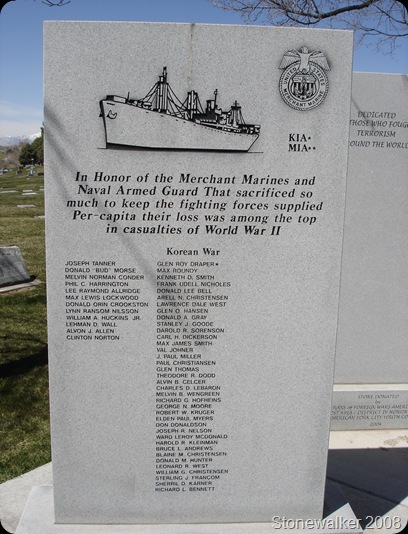 AF Cemetery Merchant Marine Veterans Memorial