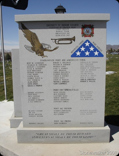 AF Cemetery VFW Honor Guard Memorial